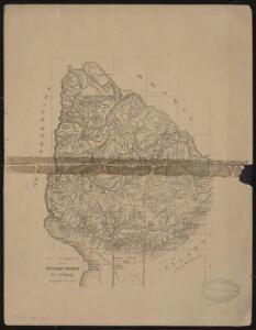 Plan topographique de la république orientale de l'Uruguay