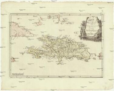 Karte von der durch den Frieden zu Basel den 22 July 1795 von Spanien und Frankreich abgetrettenen Insel St. Domingo oder Hispaniola