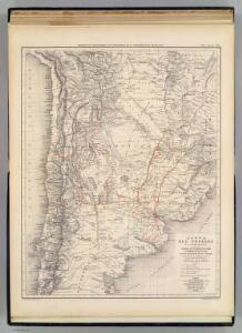 Carte des voyages du Dr. V. Martin de Moussy.