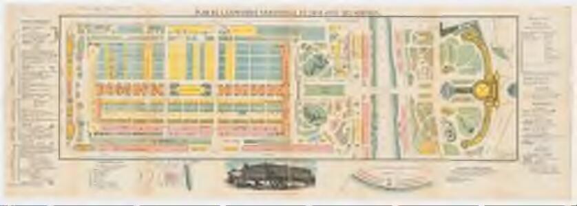 Plan de l'exposition universelle de 1878 avec ses annexes