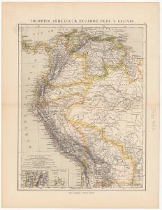Colombia, Venezuela, Ecuador, Perú y Bolivia