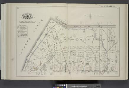 Vol. 6. Plate, D. [Map bound by Whale Creek Canal, Green Point Ave., Oakland St., Newtown Creek; Including Duck St., Brant St., Setauket St., Provost St., Ranton St., Pequod St., Shawnet St., Water St., Paidge Ave., Clay St., Dupont St., Eagle St., Freem