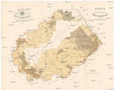 Mapa svěřenských statků Rychnova a Černíkovic