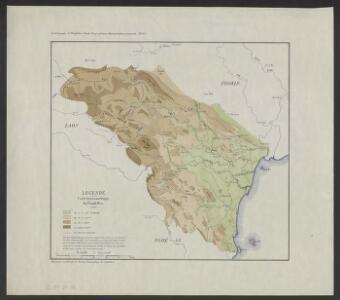 Le Thanh Hoa, étude géographique d'une province annamite. pl. n1 : Carte hypsométrique du Thanh Hoa