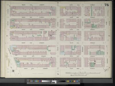 Manhattan, V. 4, Double Page Plate No. 75  [Map bounded by W. 37th St., E. 37th St., 4th Ave., E. 32nd St., W. 32nd St., 6th Ave.]
