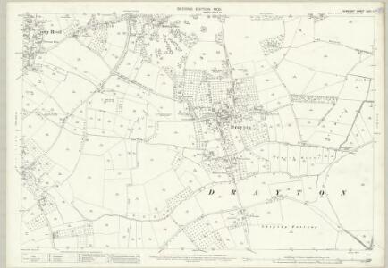 Somerset LXXII.11 (includes: Curry Rivel; Drayton; Huish Episcopi) - 25 Inch Map