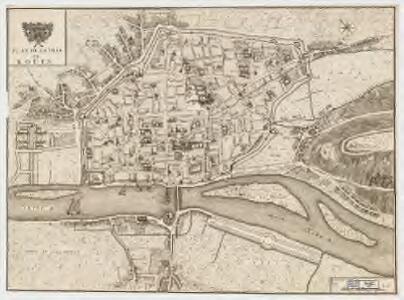 Plan de la ville de Roüen
