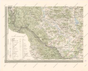 Schulwandkarte des politischen Bezirkes Krumau Blatt 3