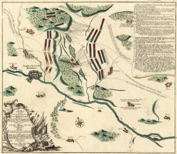 Plan de la bataille écheûë entre l'armée Françoise Commandée par Mr. le Marechal D'Entrées Et l'Armée Des Alliés de Hanovre commandée par Mr. Le Duc de Cumberland en faveur de l'armée Françoise Donnée au jour