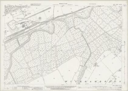Kent XXXVI.10 (includes: Chislet; Westbere; Wickhambreux) - 25 Inch Map
