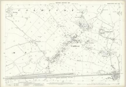Monmouthshire XXX.15 (includes: Caer Went; Caldicot; Portskewett; Rogiet) - 25 Inch Map
