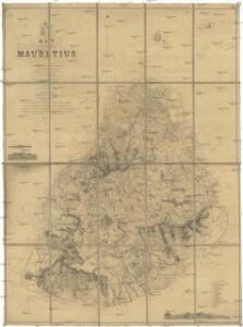 Map of the island of Mauritius