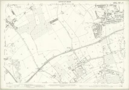 London (Edition of 1894-96) LXX (includes: Ealing St Mary; New Brentford; Old Brentford) - 25 Inch Map