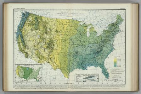 Average Annual Precipitation in Inches.  Atlas of American Agriculture.