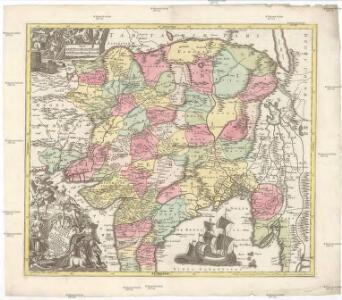 Imperii magni Mogolis sive Indici Padschach, juxta recentißimas navigationes accurata delineatio geographica