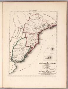 L. Das kaiserthum Brasilien. Provinz 13-14, 15, 19. Q. Die Rep. Montevideo