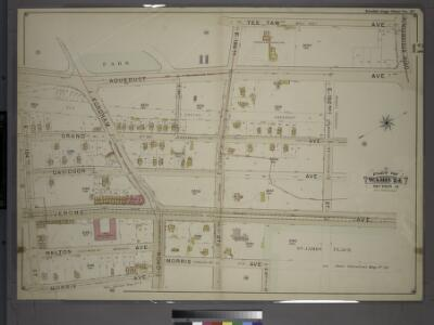 Double Page Plate No. 27, Part of Ward 24, Section 11. [Bounded by Aqueduct Avenue, E. 190th Street, Tee Taw Avenue, Kingsbridge Road, Aqueduct Avenue, E. 192nd Street, Jerome Avenue, E. 191st Street, Morris Avenue and E. 184th Street.]