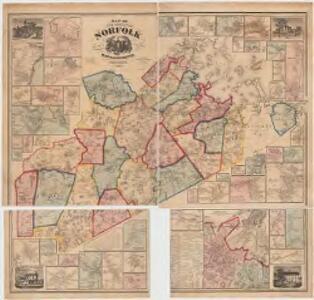 Map of the county of Norfolk, Massachusetts