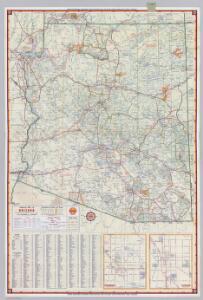 Shell Highway Map of Arizona.