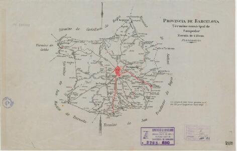 Mapa planimètric de Santpedor