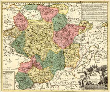Nova Ducatus Westphaliae Tabula Accurate descripta et in Satrapias et Dynastias distincte divisa