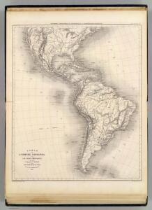 Carte de l'Empire Espagnol dans les deux Ameriques.