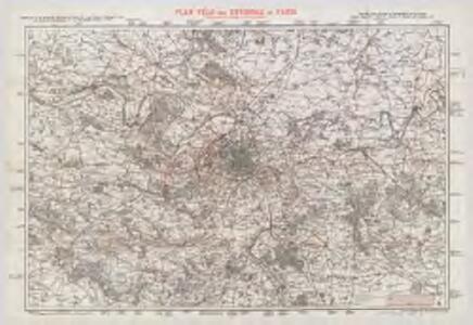 Plan vélo des environs de Paris : d'après les cartes de l'Etat-Major et du guide Baroncelli