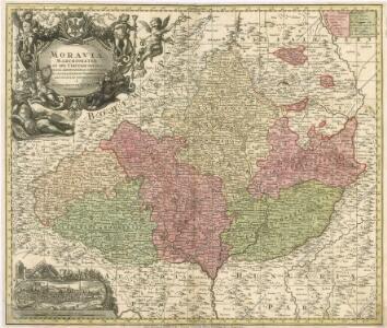 Moravia Marchionatus in sex Circulos divisius...