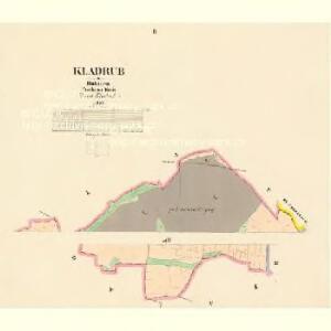 Kladrub - c3111-1-002 - Kaiserpflichtexemplar der Landkarten des stabilen Katasters