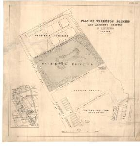 Plan of Warriston policies and adjoining grounds in Edinburgh.