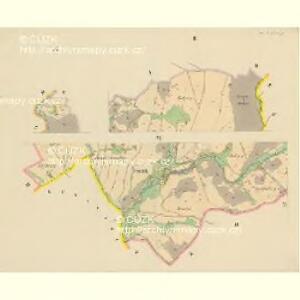 Klein Aurzim (Maly Auřim) - c4462-1-003 - Kaiserpflichtexemplar der Landkarten des stabilen Katasters