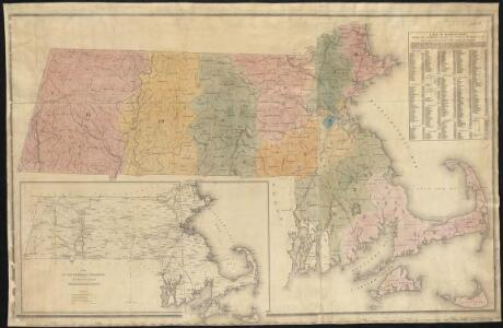 A map of Massachusetts showing the congressional districts, as proposed by the Senate of 1852
