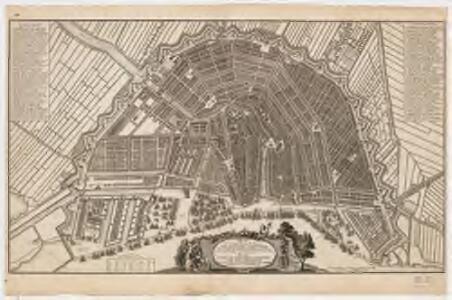 Plan de la grande & fameuse ville marchande d'Amsterdam = Plan van de wyd vermaarde en beroemde koop stad Amsterdam