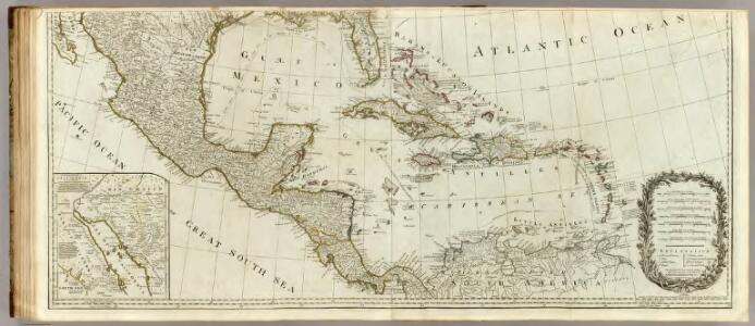 (A new map of North America, with the West India Islands. Southern section)