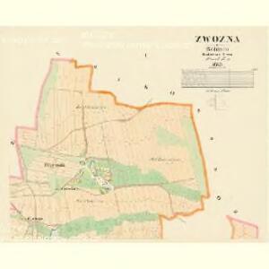 Zwozna - c2453-1-001 - Kaiserpflichtexemplar der Landkarten des stabilen Katasters