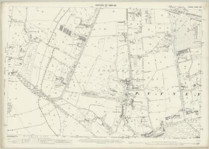 London (Edition of 1894-96) CXII (includes: Mortlake; Wandsworth Borough) - 25 Inch Map
