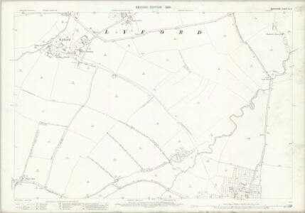 Berkshire IX.14 (includes: Charney Bassett; East Hanney; Garford; Lyford; West Hanney) - 25 Inch Map