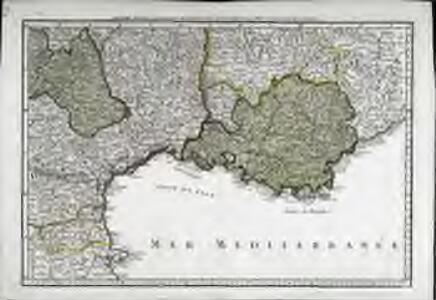 Sixieme feuille contenant le Languedoc, le Dauphiné, la Provence et le Roussillon