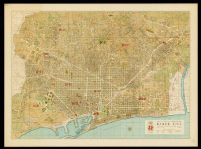 Plano de la ciudad de Barcelona / Ajuntament de Barcelona. Servicio del Plano de la Ciudad