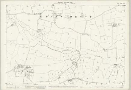 Essex (1st Ed/Rev 1862-96) XII.11 (includes: Alphamstone; Great Henny; Lamarsh; Twinstead) - 25 Inch Map