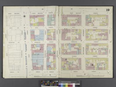 Manhattan, V. 1, Double Page Plate No. 19 [Map bounded by W. Houston St., Varick St., Spring St., West St.]