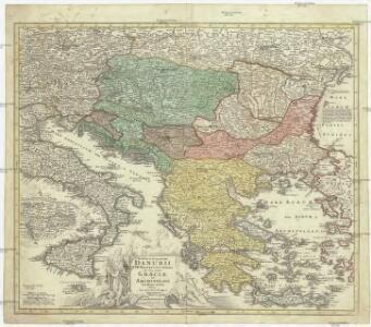 Fluviorum in Europa principis Danubii cum adiacentibus regnis, nec non totius Graeciae et Archipelagi novißima tabula