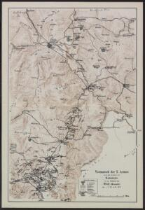 Vormarsch der 1. Armee nach der Schlacht bei Kumanowo bis zur Schlacht bei Bitolj (Monastir)