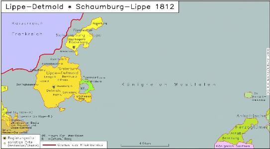 Lippe-Detmold, Schaumburg-Lippe 1812