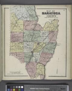 Map of Saratoga County
