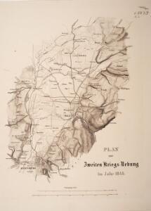 Plan zur zweiten Kriegs-Uebung im Jahr 1846