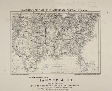 Hanmer's Map of the American Cotton States