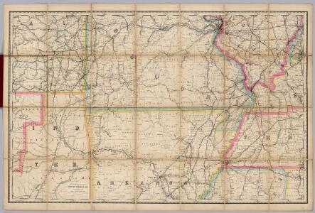 (Missouri, Arkansas) Railroad Map of the United States.