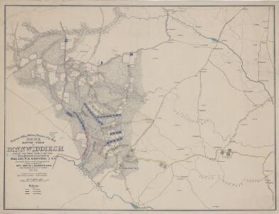 Battle-Field of Dinnwiddie [sic] C.H. Fought Saturday, March 31st, 1865 : Union Forces Commanded by Maj. Gen. P.H. Sheridan