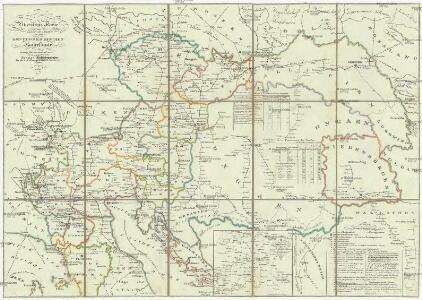 Übersichts Karte der fahrenden Posten in dem Oesterreichischen Kaiserstaate